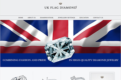UK Flag Diamond